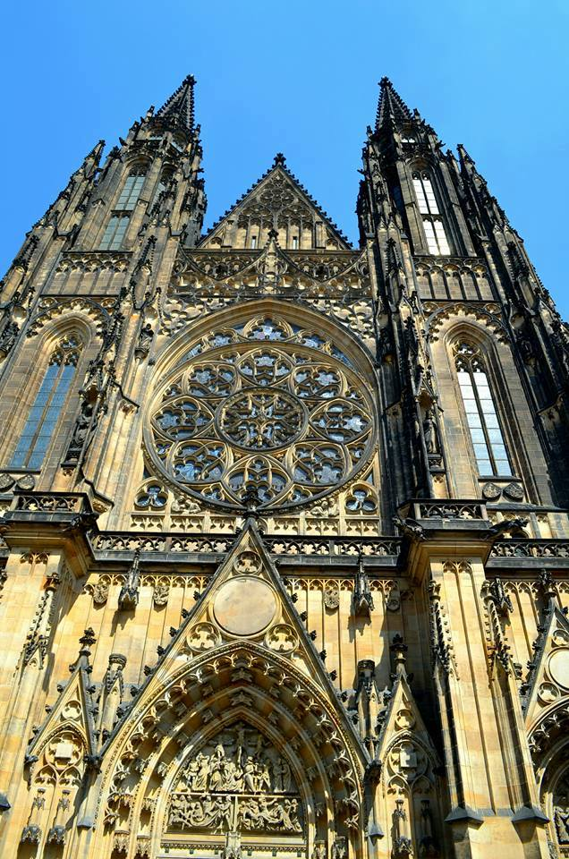 The entrance of St. Vitus Cathedral, Prague Castle