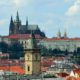 Prague Castle and Old Town Hall Tower