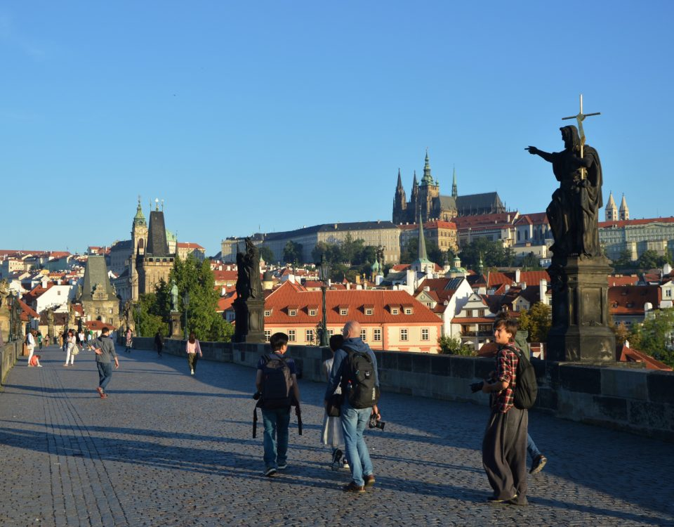 Charles bridge, with a view of Prague Castle