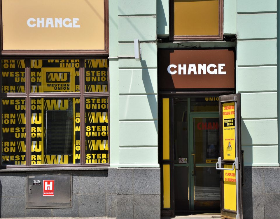Exchange office Western Union Prague