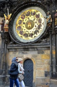 detail of Astronomical clock in Prague