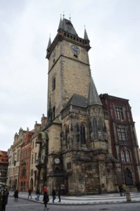 Astronomical clock and the Old Town Hall, Prague