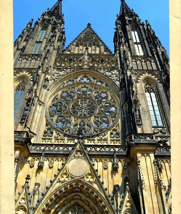 An e-postcard of St.Vitus Cathedral