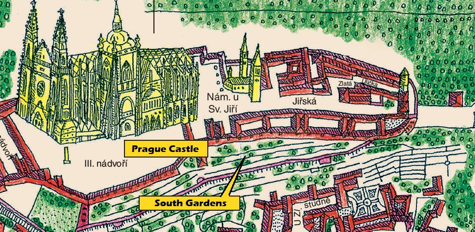 south-gardens-prague-castle-map