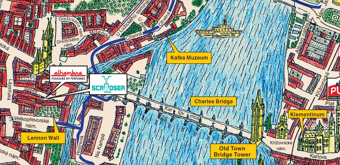 map of Charles Bridge