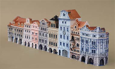 Little porcelain houses